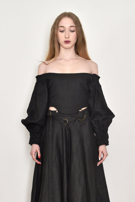 Spring 2019: Off Shoulder Bustier w/Bishop Sleeve