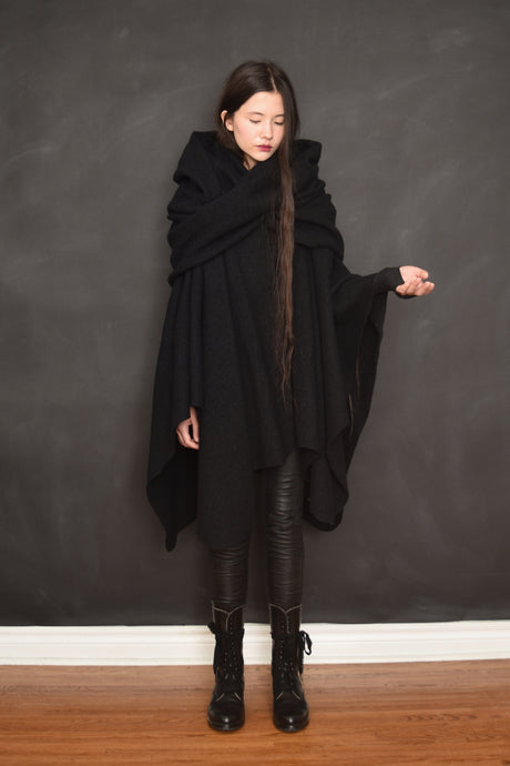Restock 2021: Mythic Cape Pure Wool (Black, Limited Edition)