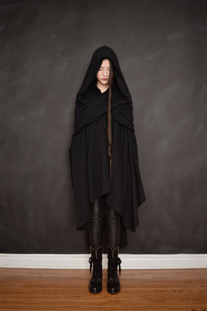 FW18 Mythic Cape in Herringbone Cotton
