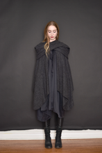 FW 2020: Mythic Cape in Heather Grey Boiled Wool