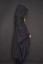 Restock 2021: Mythic Cape in Heather Grey Boiled Wool