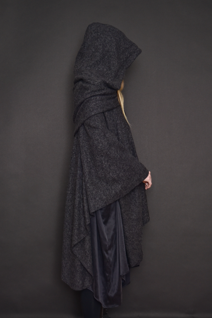 Capsule FW19: Mythic Cape in Heather Gray Boiled Wool (Limited Edition)