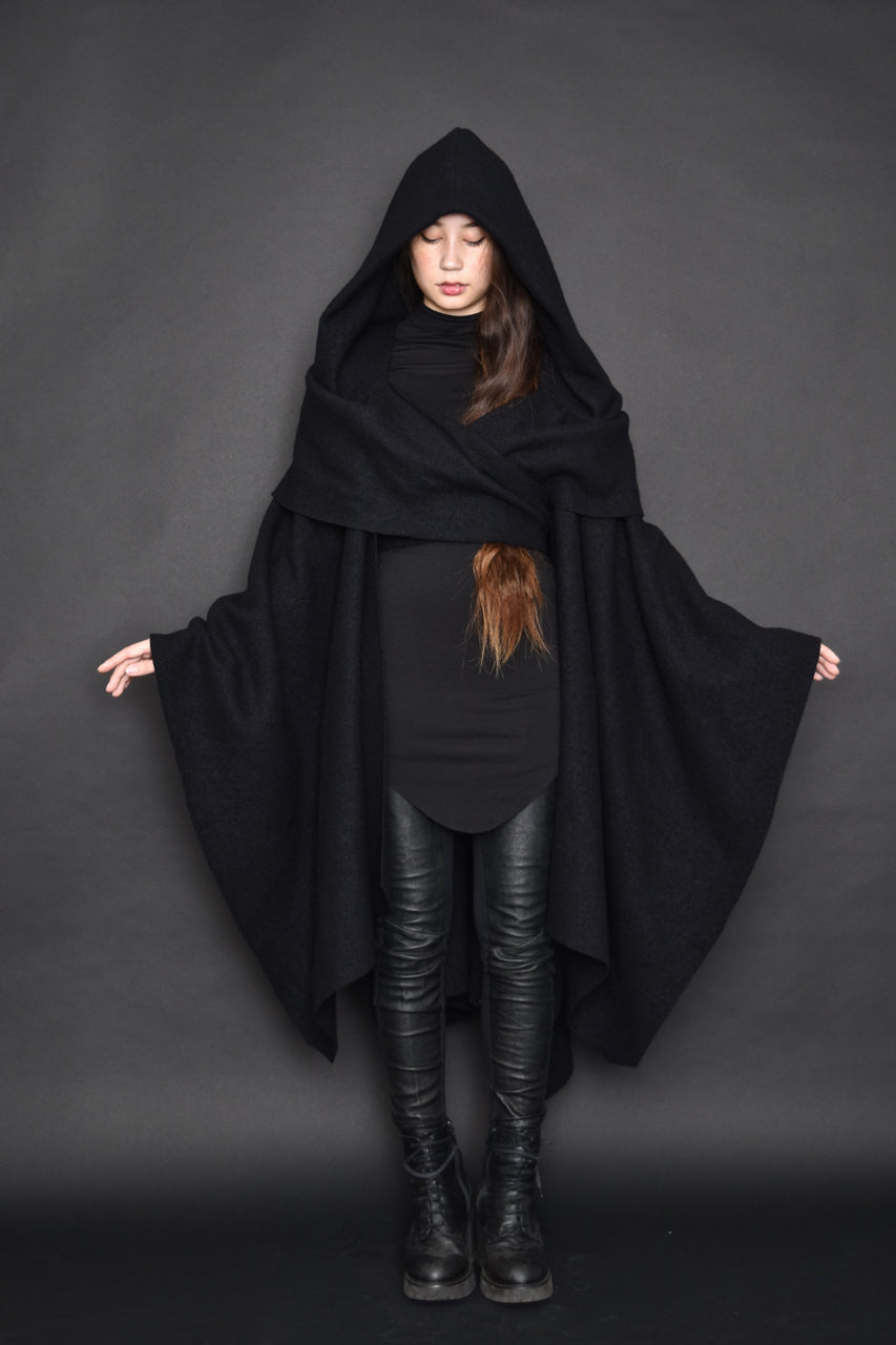 FW19: Mythic Wrap Cape in Pure Wool