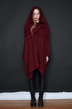 Winter 2020: Mythic Cape in Oxblood Boiled Wool (Limited Edition)
