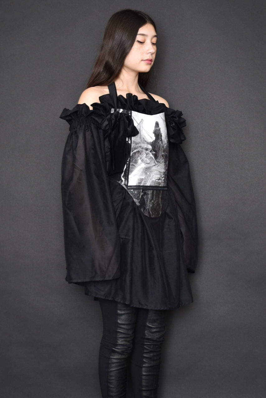 FW19: Paperbag Tunic in Silk Cotton (Black)