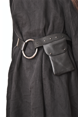 SS18: Hand Forged Iron O-Ring Belt w/Stud Post Closure (Limited Edition)