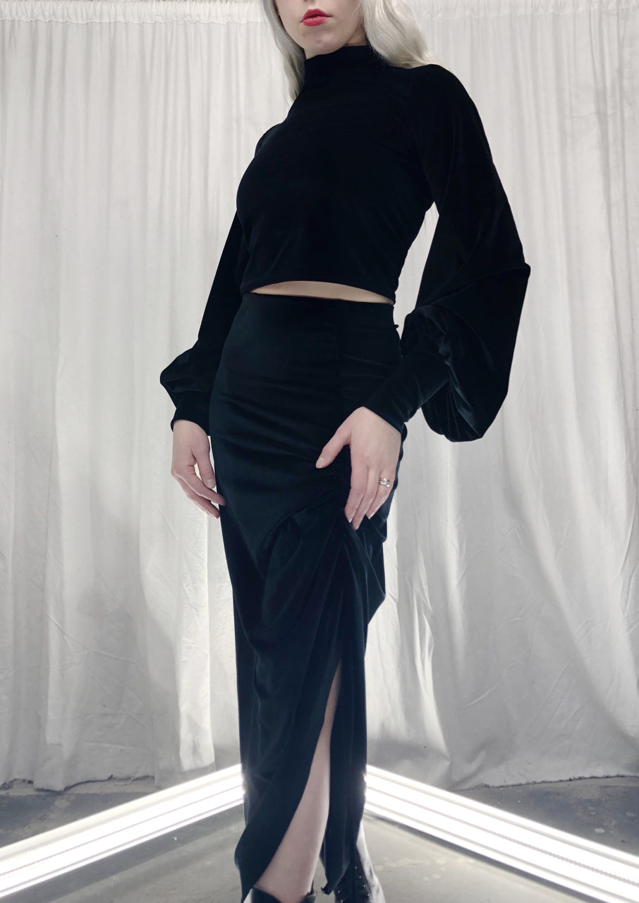 Winter 2019: Velvet Skirt w/Drawstrings