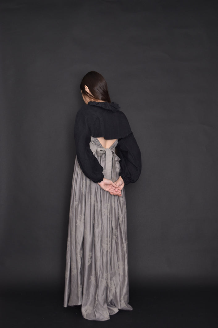 FW19: Cropped Bishop Sleeve Shrug in Washed Linen