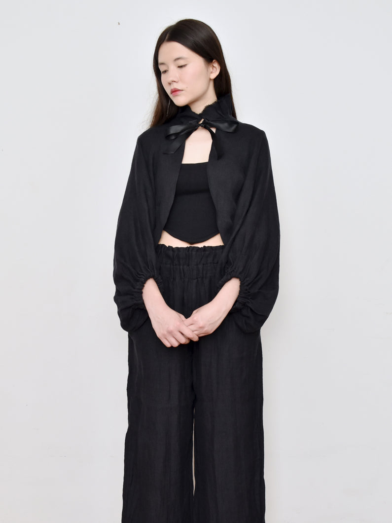 High Summer Capsule: Cropped Bishop Sleeve Shrug Jacket