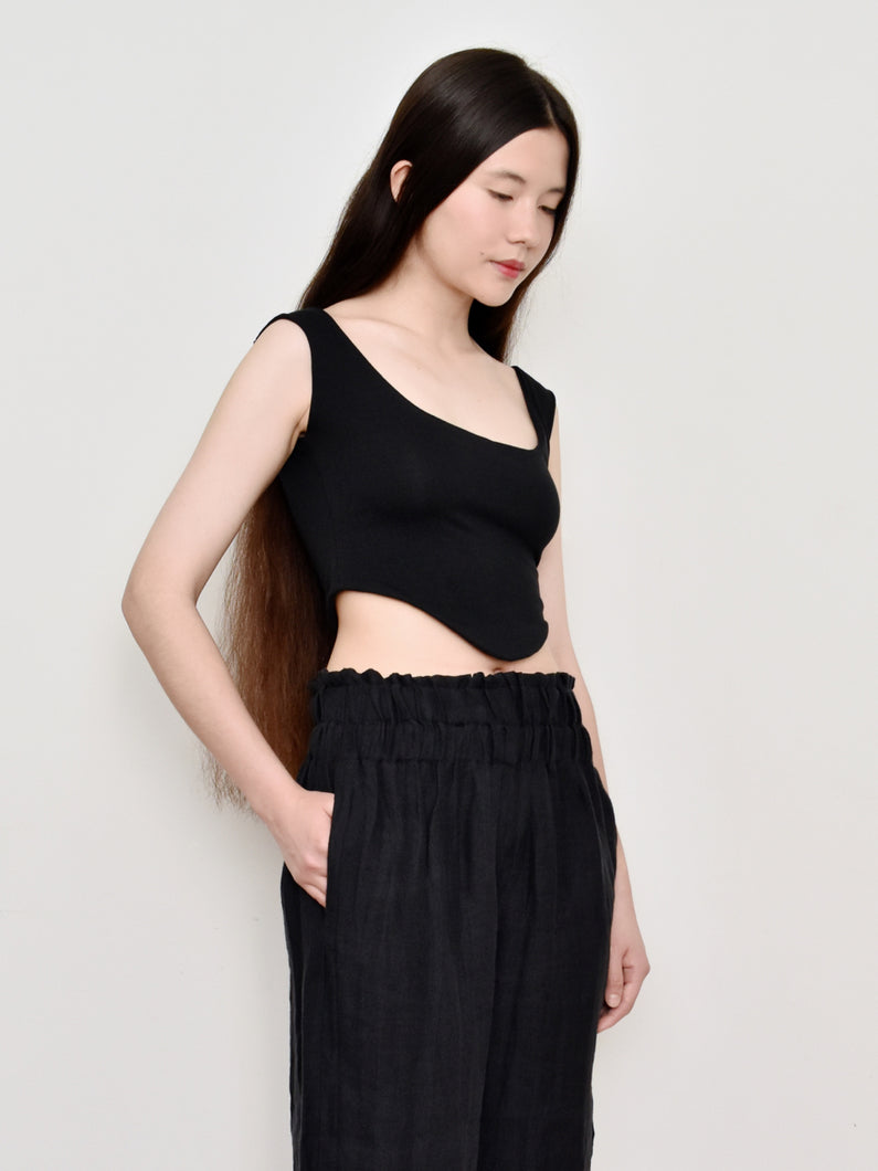 High Summer Capsule: Sylphide Cropped Bustier in Cotton