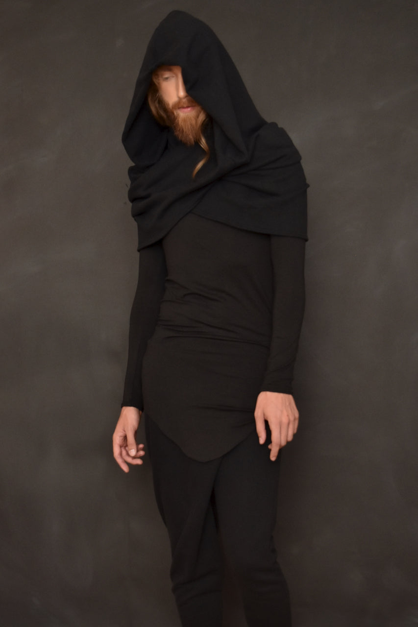 FW18 Unisex: Mythic Cowl in Herringbone Cotton