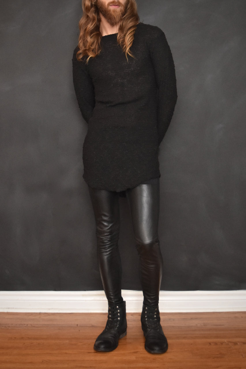 Unisex: Leather Panel Leggings