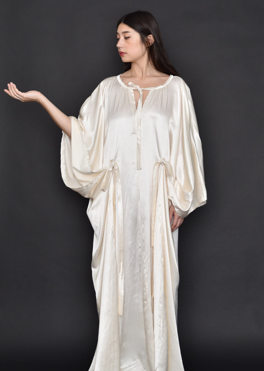 FW19: Languedoc Caftan in Cream Satin (Limited Edition)