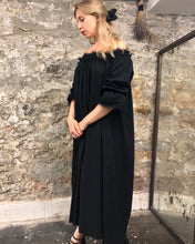 Summer 2020: Isabel Maxi Dress w/Raw Linen Lace (Black)