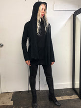 Sample Sale: Draped Sweater w/Hood and Crossover Ties (S)