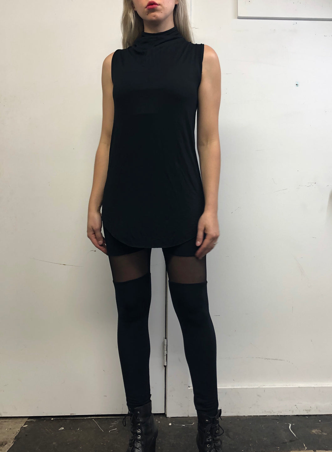 Sample Sale Day Two: High Cowl Collar Long Tank (L)