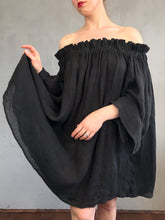 Spring 2021: Paperbag Tunic in Black Linen Voile