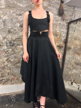 Summer 2020: Notch Waist Skirt in Black Linen