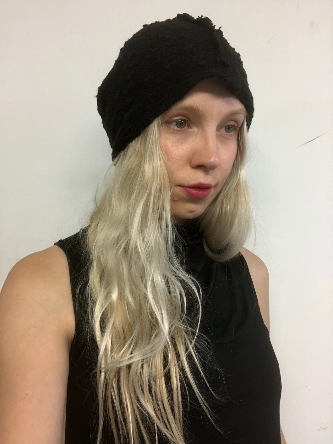Sample Sale: Slouchy Toque in Cotton/Linen Boucle (One Size)