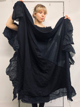 Sample Sale: Cotton and Wool Ruffle Shawl, One Size