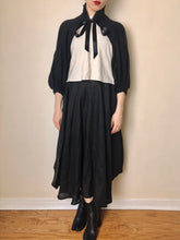 Sample Sale: Cropped Bishop Sleeve Shrug in Washed Linen (One Size)