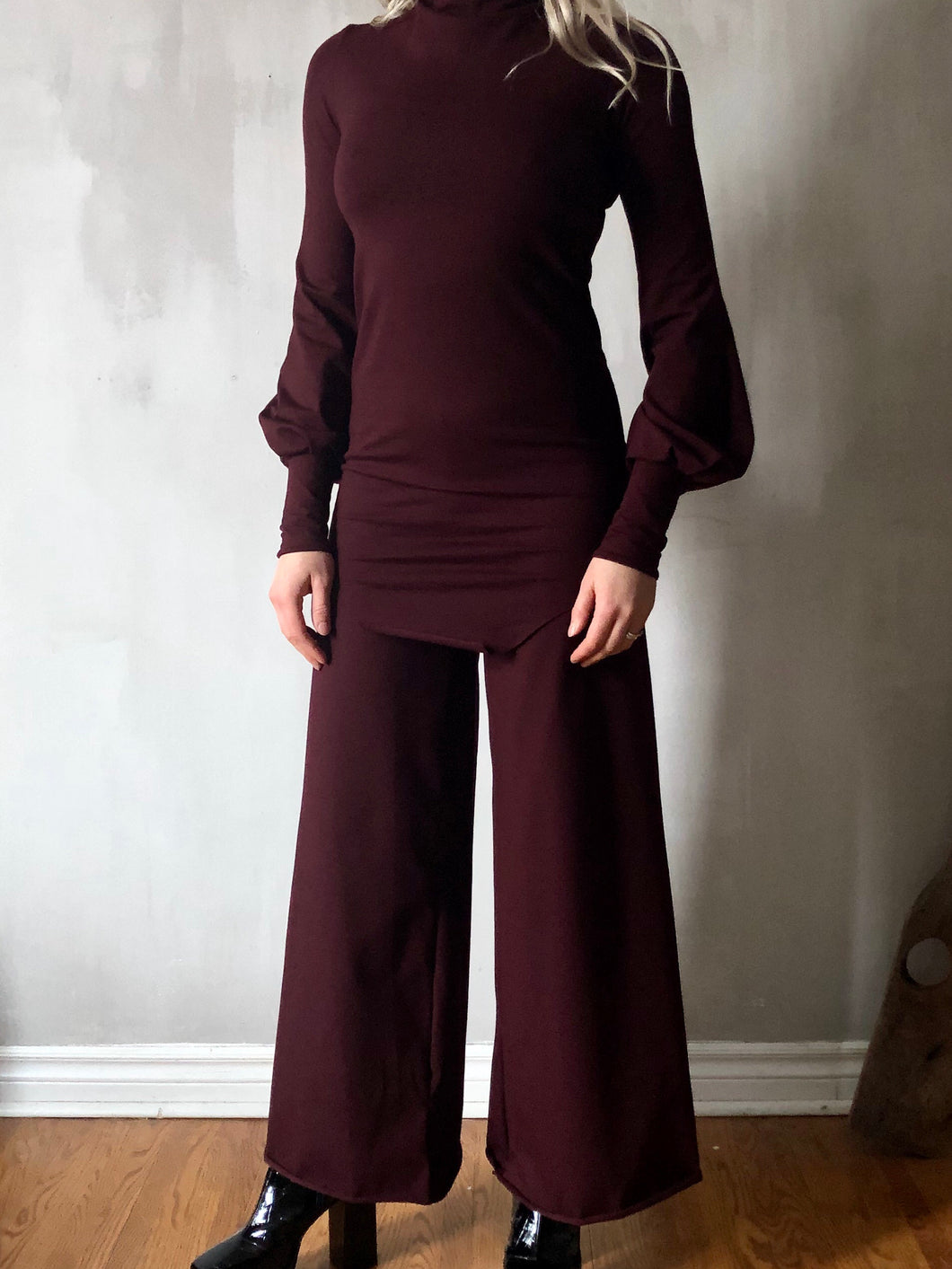 Winter 2020: Blood Roses Cotton Wide Leg Trousers