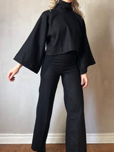 Winter 2020: Wide Sleeve Stand Collar Top