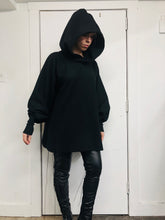 Sample Sale II: Corset Laced Hooded Tunic (S/M, Oversized)