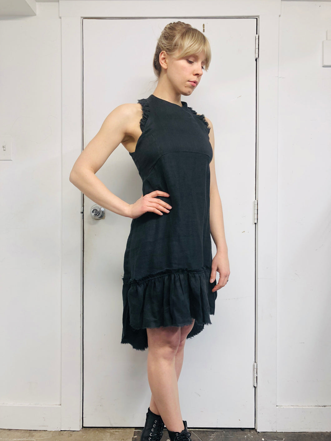 Sample Sale II: Racer Linen Mini Dress (S)