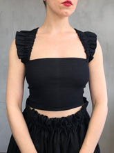 Spring 2021: Black Wings Tank in Bamboo Rib