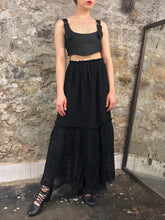 Sample Sale 2021: Two-Tier Maxi Skirt w/Linen Ruffle (One Size)
