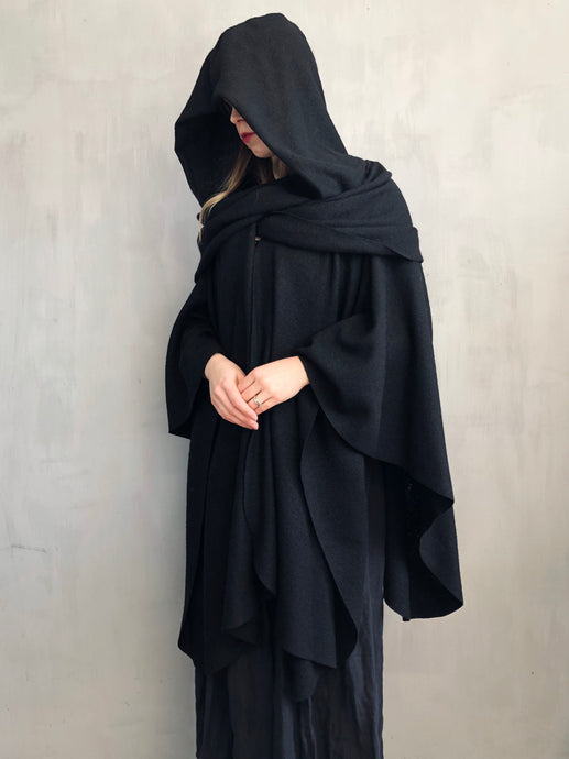 Restock 2021: Mythic Cape in Black Boiled Wool