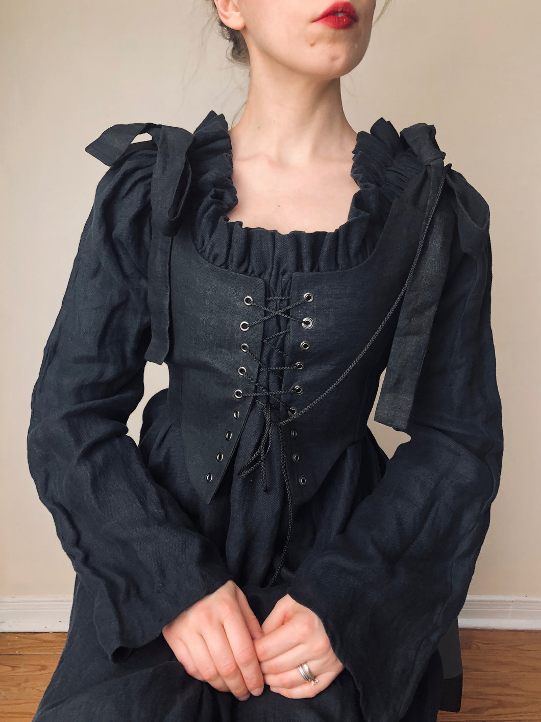Sample Sale 2021: Corset Laced Vest in Linen