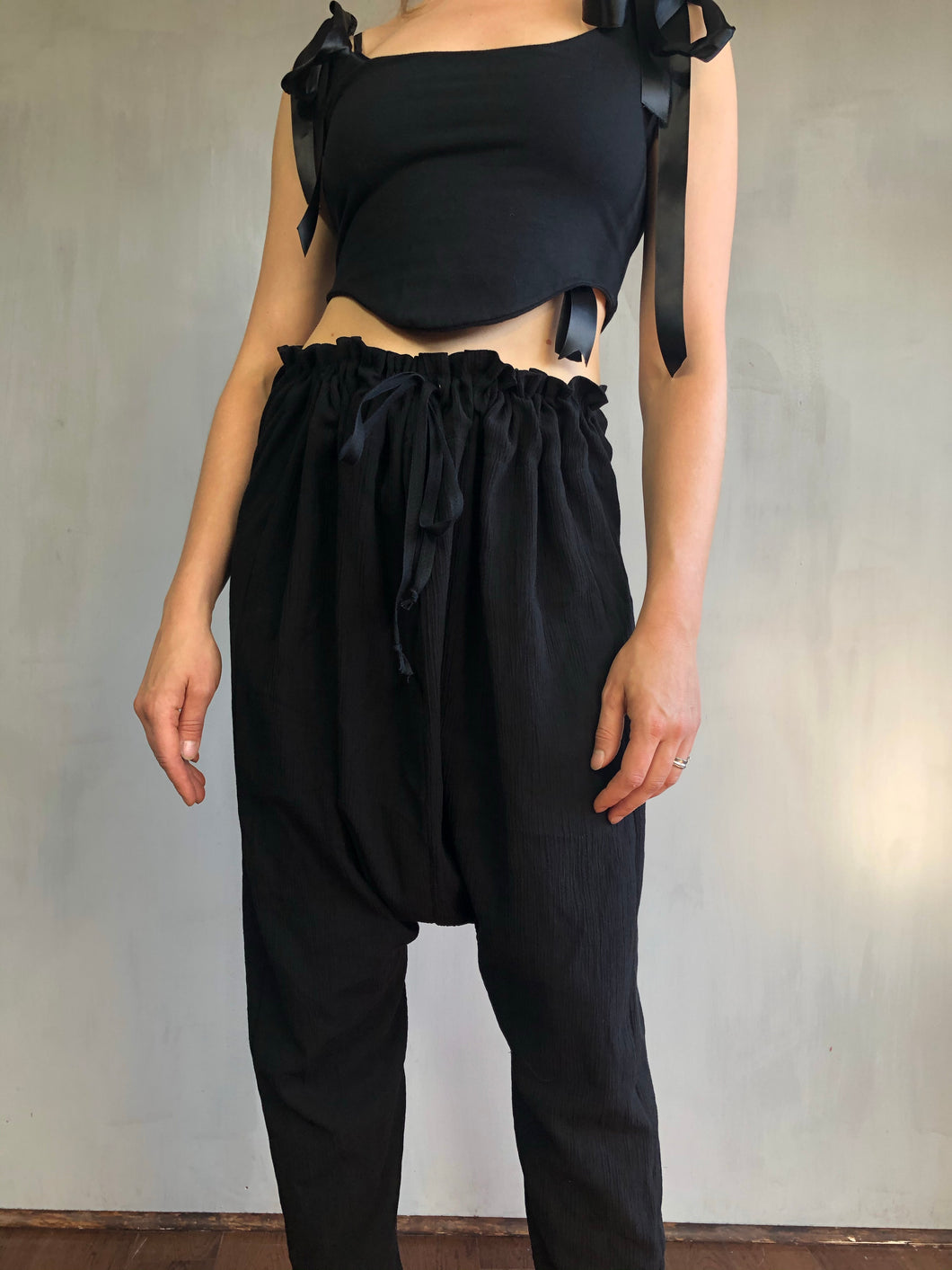 Sample Sale: Drawstring Cotton Trousers (One Size)