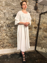 Summer 2020: Isabel Maxi Dress w/Raw Linen Lace (Ivory)