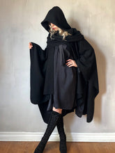 Winter 2020: Mythic Cape in Black Boiled Wool