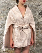 Sample Sale 2021: Cape Sleeve Jacket in Blush Brocade (One Size)