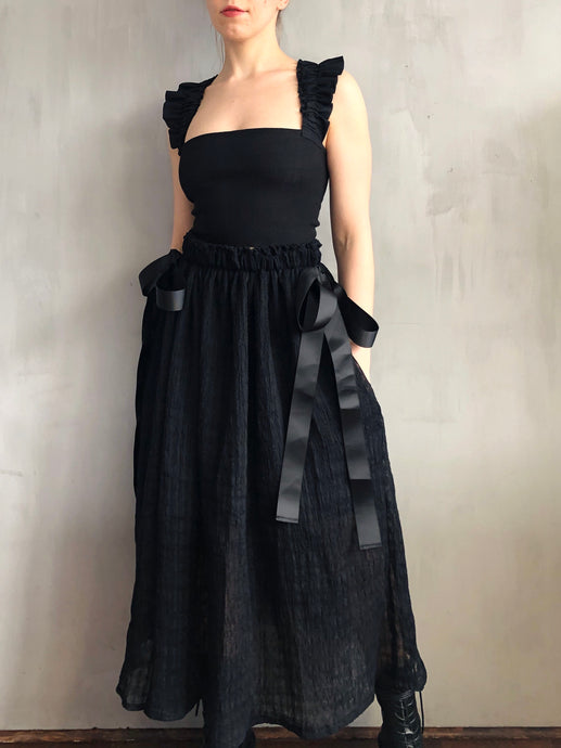 Spring 2021: Bows Maxi Skirt in Antique Linen
