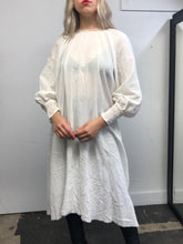 Sample Sale: Bishop Sleeve Tunic Blouse in Crinkled Cotton (M/L)