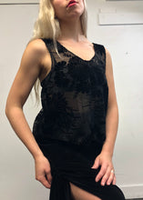 Sample Sale Day Two: Burnout Velvet Lilies Tank w/Silk Ties (One Size)