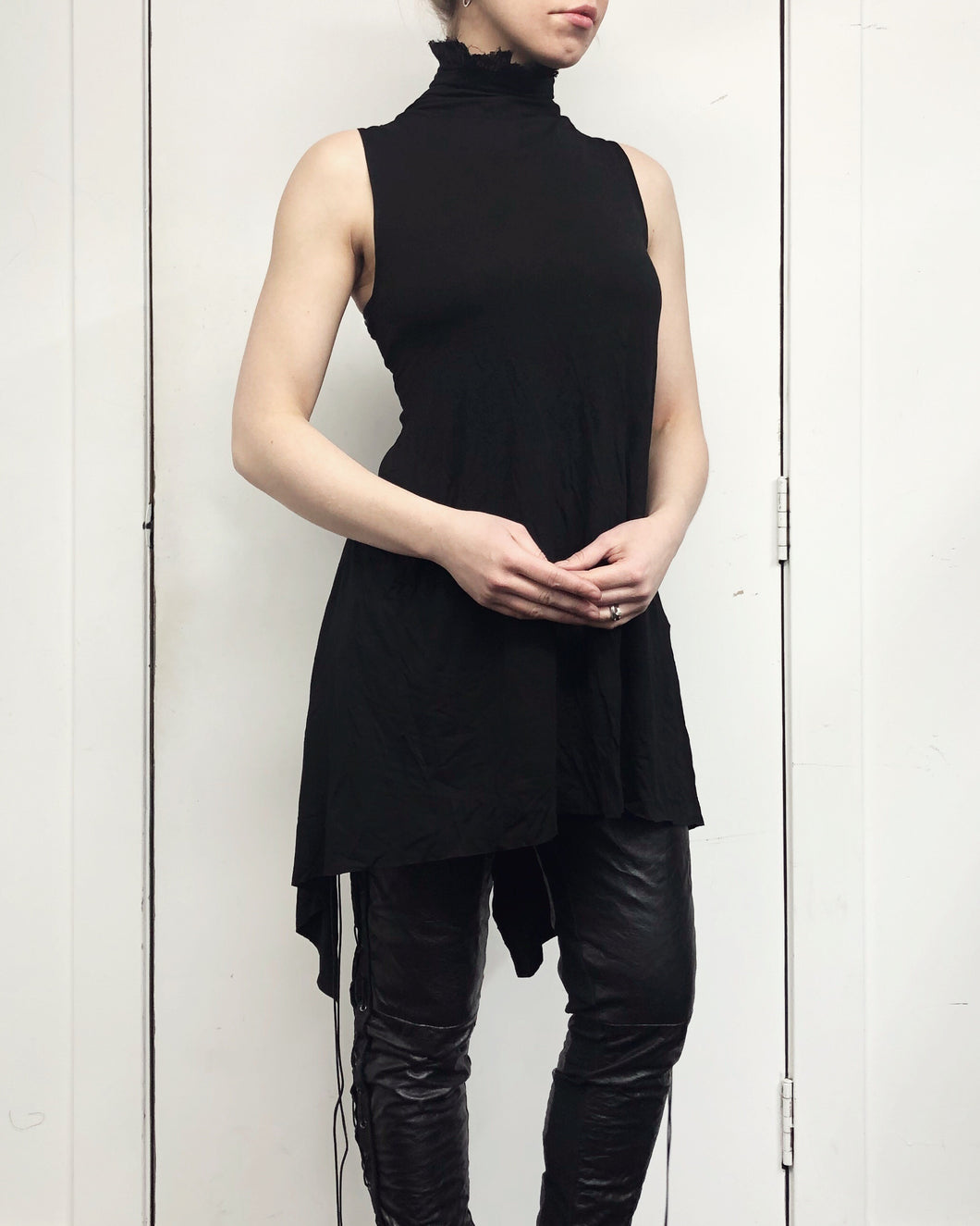Sample Sale: Tails Tank w/Linen Ruff Collar, S/M