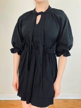 Sample Sale 2021: Rosemary Babydoll Dress in Black Cotton (S/M, Petite)