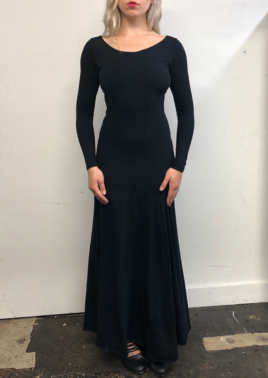 Sample Sale: Twist Seam Mermaid Maxi Dress in Cotton (S/XS)
