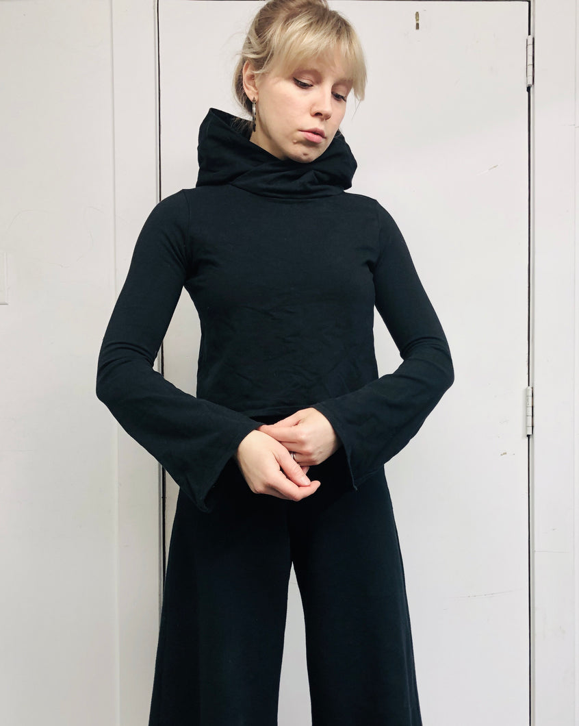 Sample Sale: Hooded Pullover w/Bell Sleeve, S/M