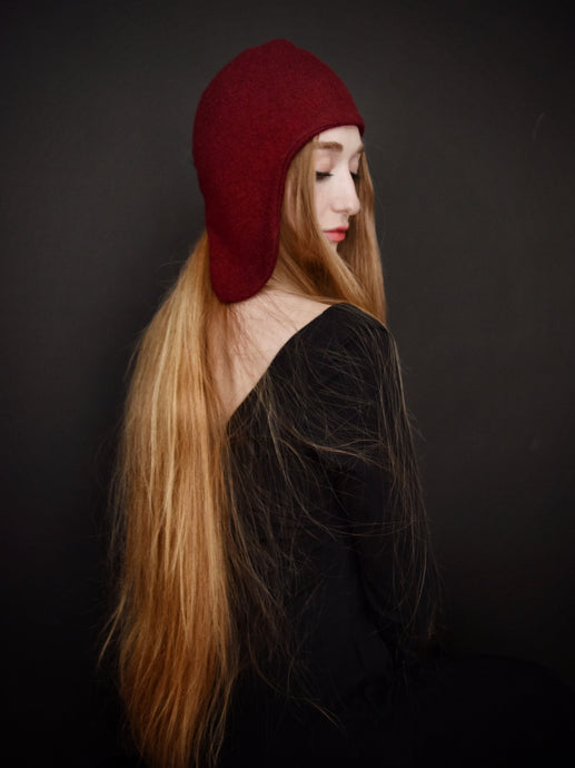 Capsule FW19: Spangenhelm Toque in Oxblood (Limited Edition)