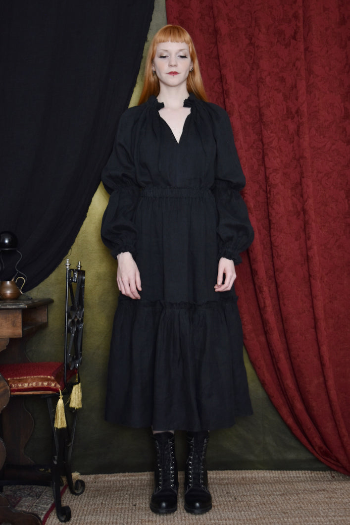 FW 2020: Lantern Sleeve Blouse and Two Tier Skirt Set