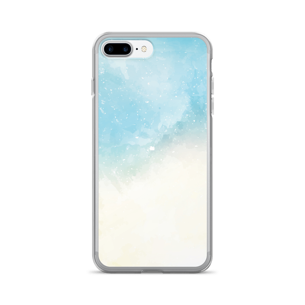 Abstract Sky Blue Watercolor iPhone Case The Skullection iPhone 7 Plus/8 Plus