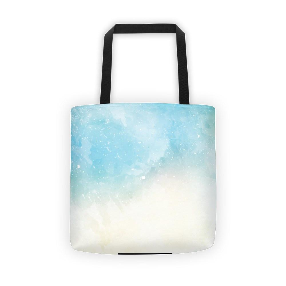 Abstract Sky Blue Watercolor Tote Bag The Skullection