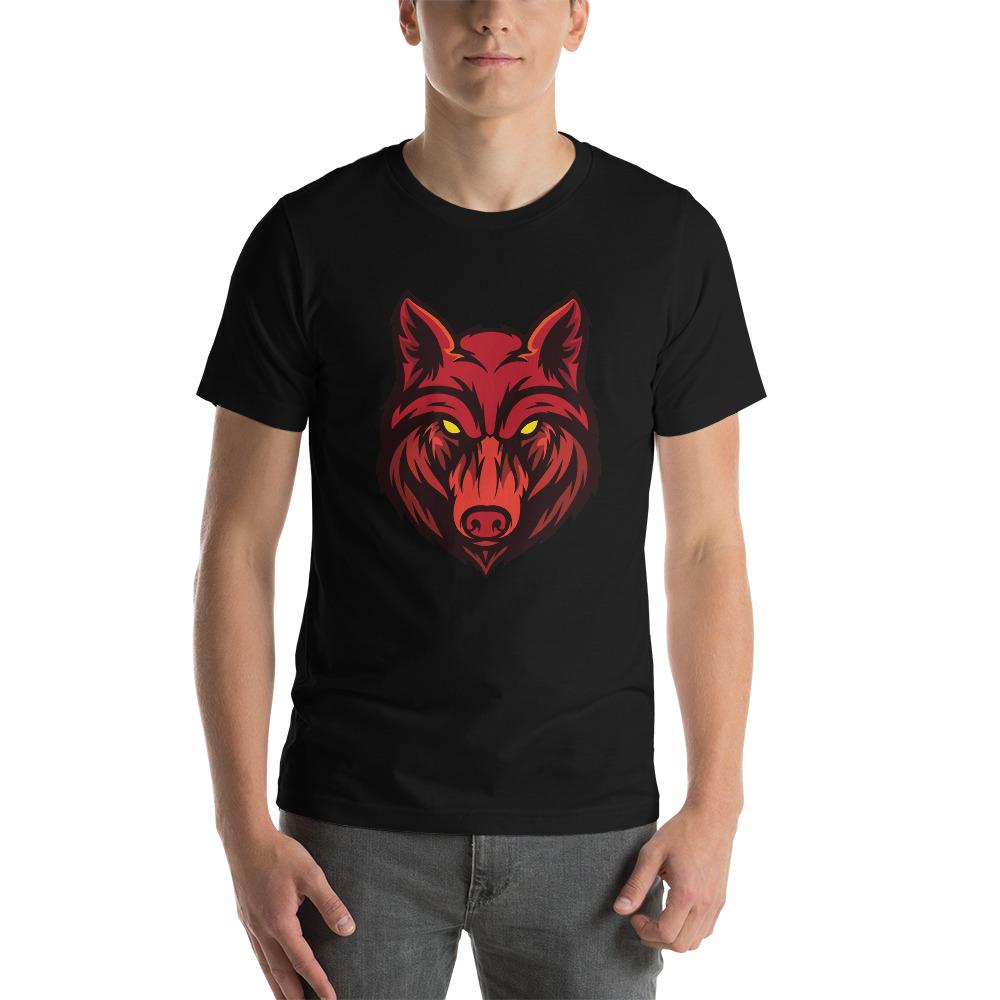 Angry Red Wolf T-Shirt The Skullection Black XS