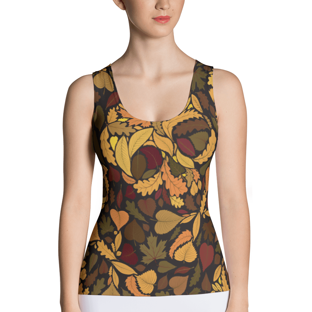 Autumn With Skulls Is Comming Tank Top The Skullection XS